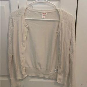 Girls 10/12 white cardigan
